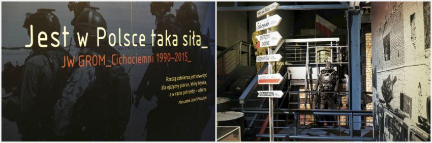 ekspozycja poświęcona jednostce specjalnej GROM w Muzeum Powstania Warszawskiego
