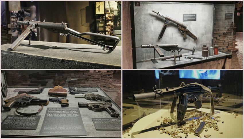 wystawa broni w Muzeum Powstania Warszawskiego