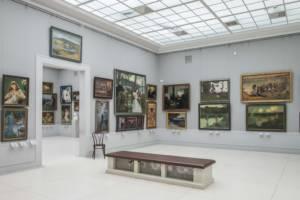 galeria obrazów w galerii pałacu w Rogalinie