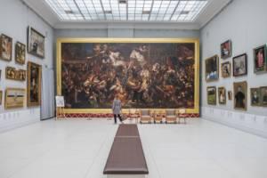 obraz Jana Matejki pt. Dziewica Orleańska w galerii w Pałacu w Rogalinie