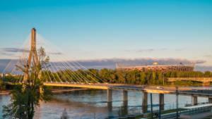 Widok na Most Świętokrzyski z Centrum Nauki Kopernik