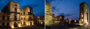 Zamek Krzyżtopór - nocna iluminacja